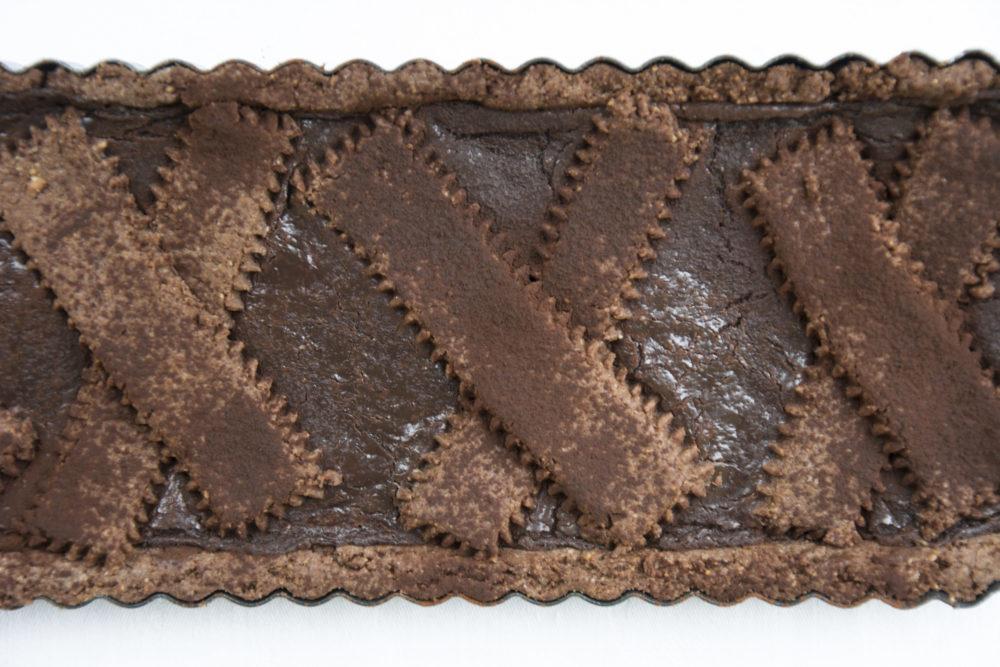 Crostata di nocciole ai due cioccolati-Senza glutine per tutti i gusti