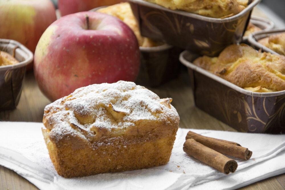 Mini plumcake alle mele -Senza glutine per tutti i gusti