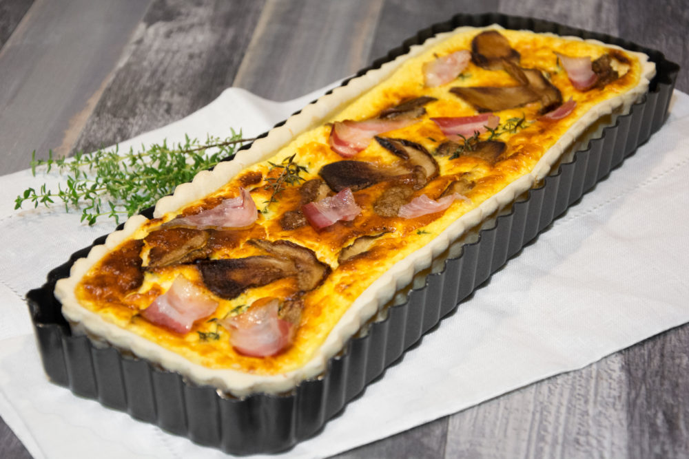Quiche alla zucca e funghi porcini- Senza glutine per tutti i gusti