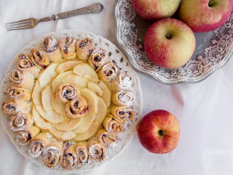 Crostata di rose alle mele -Senza glutine per tutti i gusti