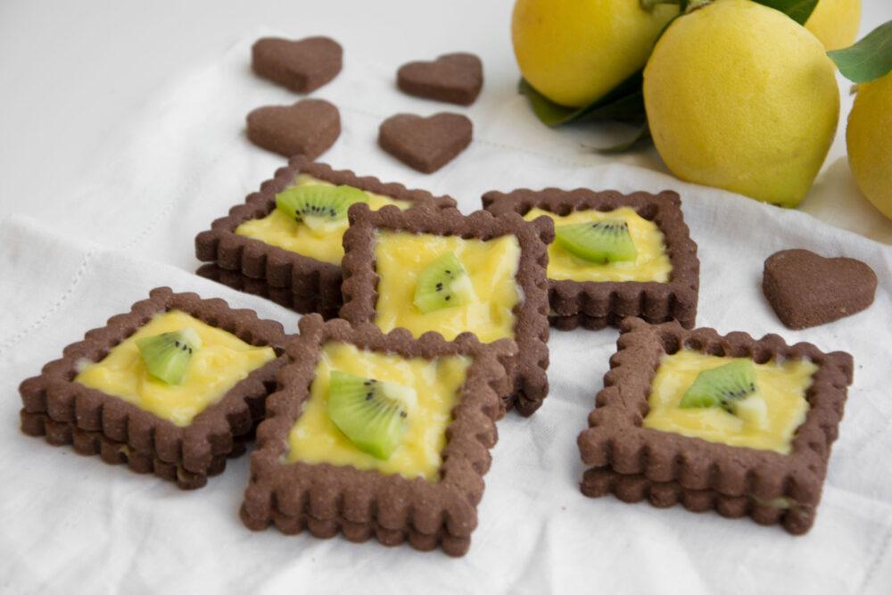 Biscotti al lemon curd -Senza glutine per tutti i gusti