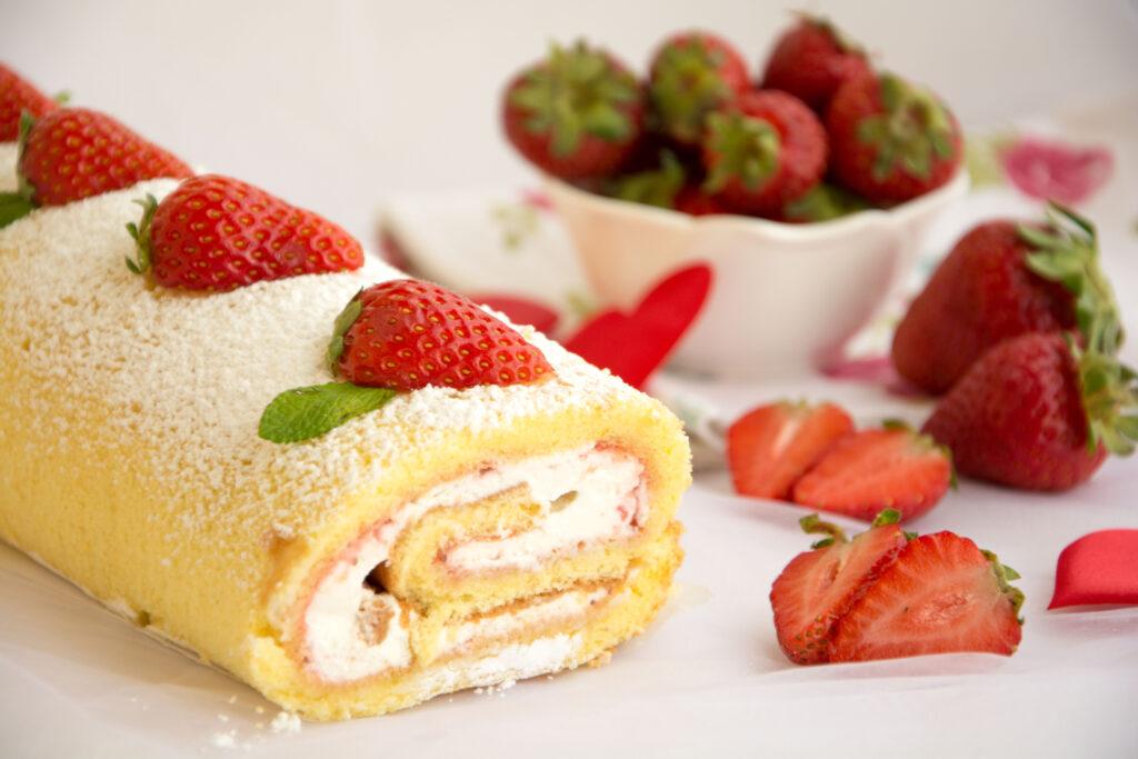 Rotolo alle fragole e mascarpone-Senza glutine per tutti i gusti