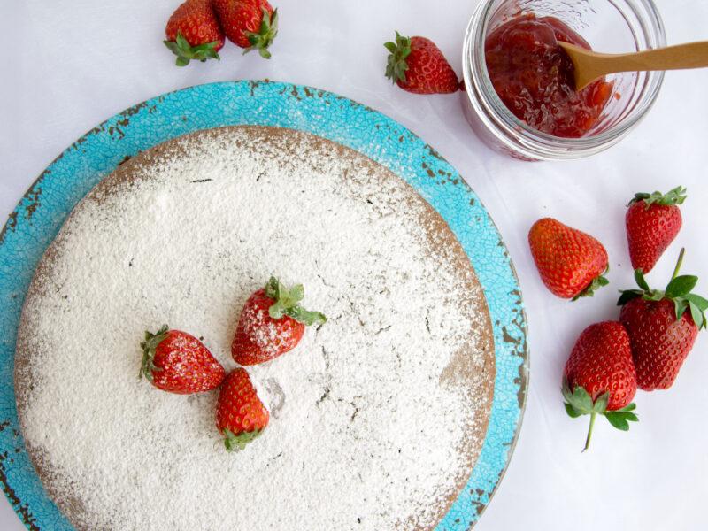 Torta di grano saraceno alle fragole -Senza glutine per tutti i gusti