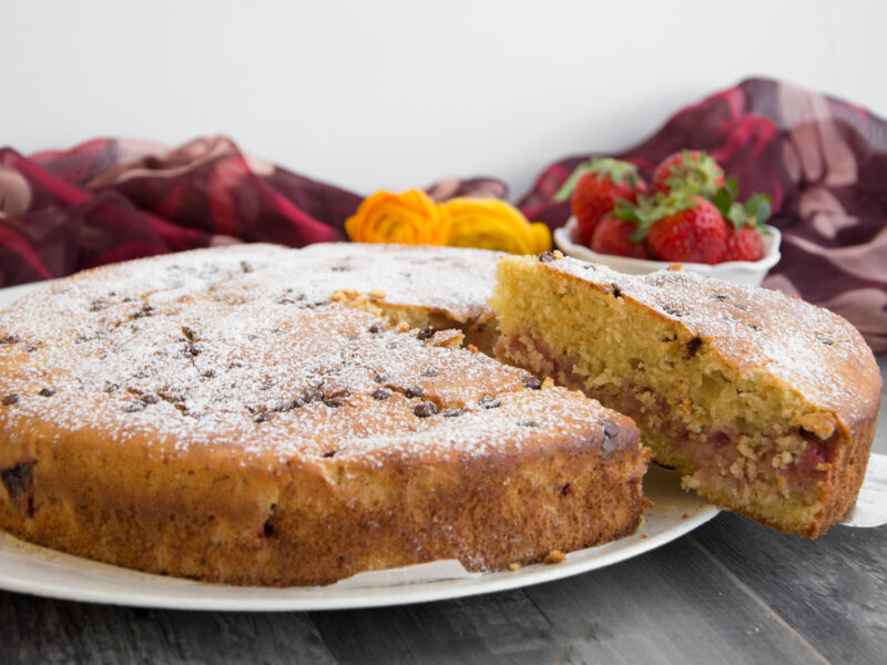 Torta di ricotta e fragole -Senza glutine per tutti i gusti