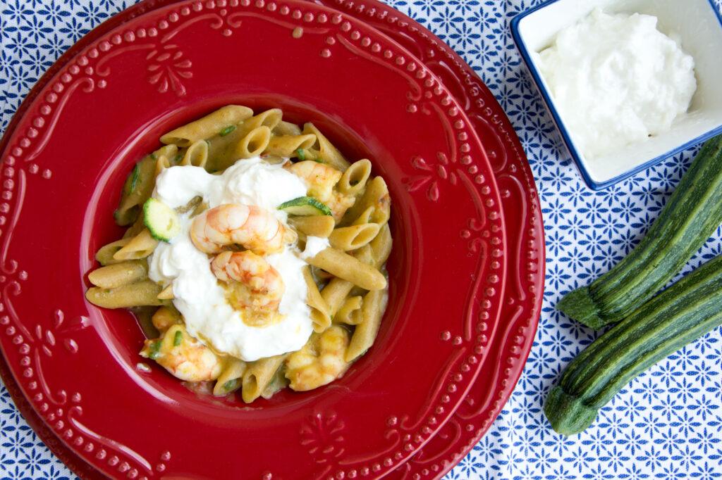Pasta risottata con zucchine e mazzancolle -Senza glutine per tutti i gusti