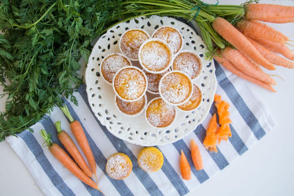 Tortini di carote e mandorle -Senza glutine per tutti i gusti
