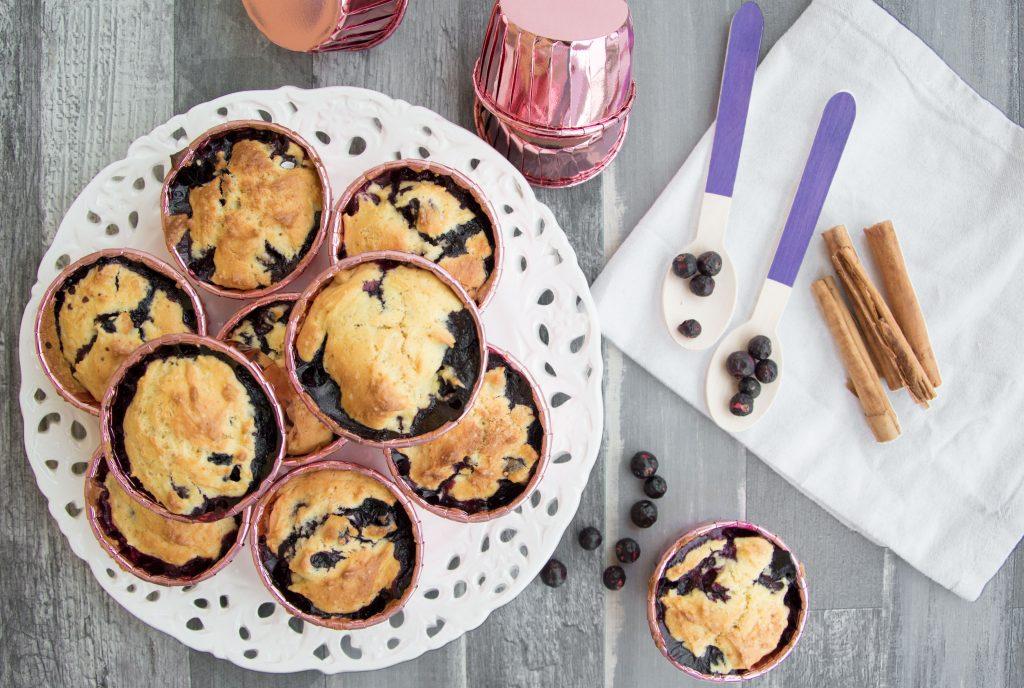 Muffin ai mirtilli -Senza glutine per tutti i gusti
